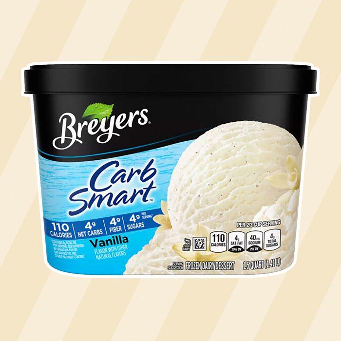 low carb ice creams Breyers Carb Smart Vanilla Frozen Dairy Dessert 48oz