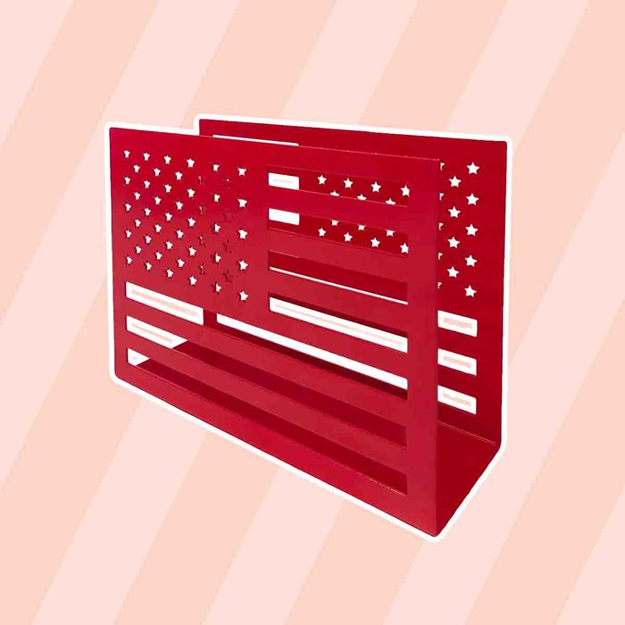 americana kitchen Celebrate Americana Together Flag Shaped Napkin Holder
