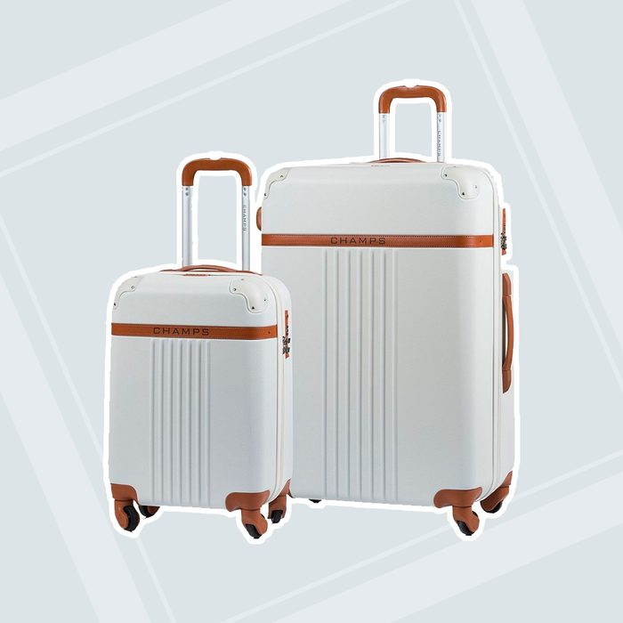 engagement party gifts Champs 2 Pc Vintage Hardside Luggage Set