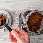 Coffee Grounds And Measuring Scoop Shutterstock 385770838 Hero
