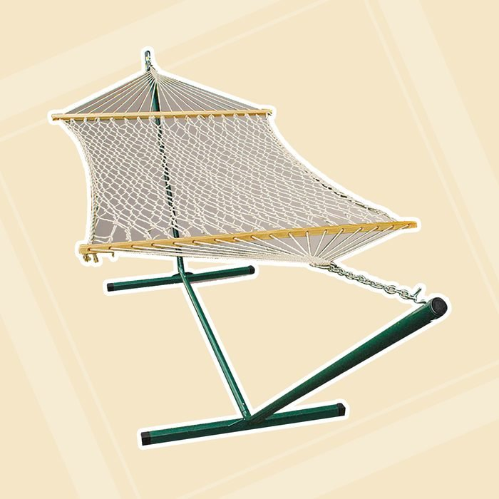world market patio Cotton Rope Single Hammock With Stand