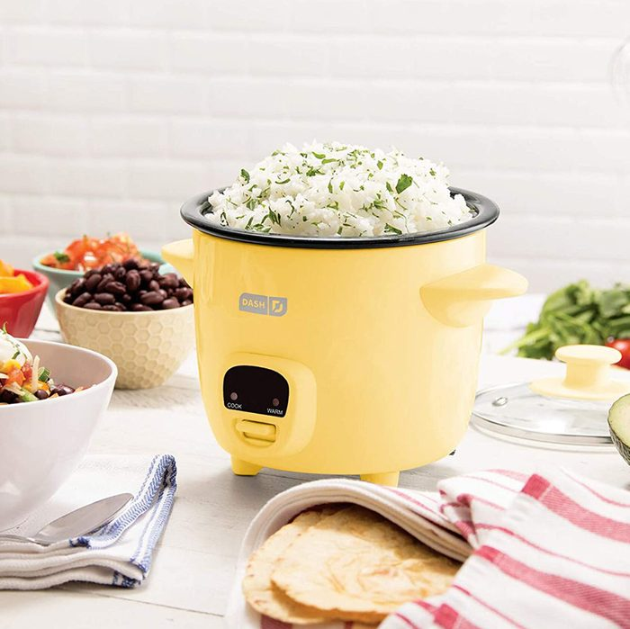 Dash DRCM200RMCM04 Mini Rice Cooker Steamer with Removable Nonstick Pot, Keep Warm Function & Recipe Guide, Yellow