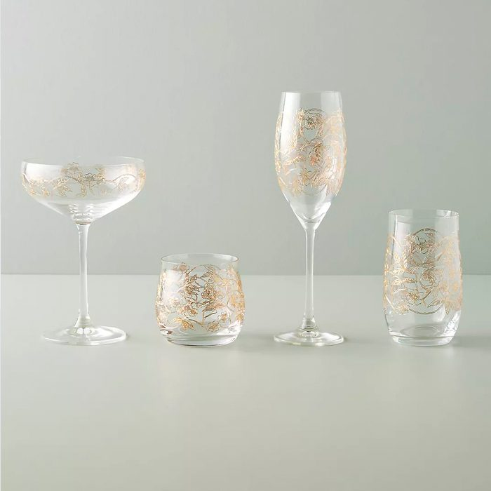 bridesmaid gifts Fiorella Coupe Glasses Set Of 4