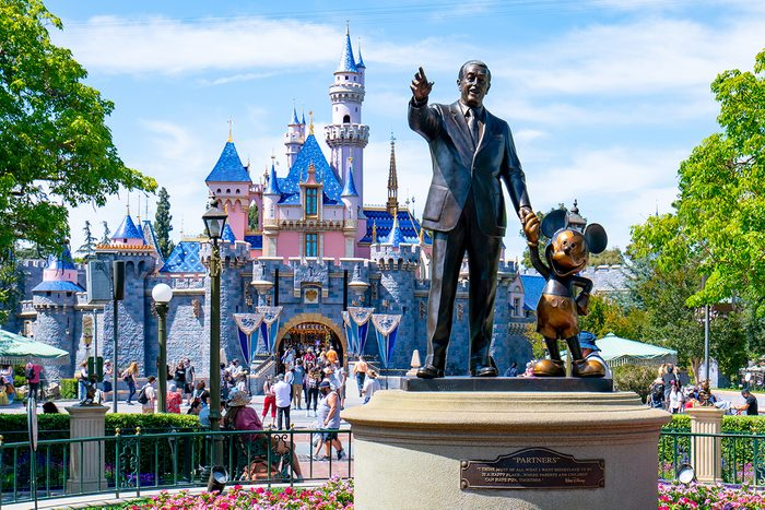 ANAHEIM, CA - JUNE 06: General views of the Walt Disney 'Partners' statue at Disneyland, which has recently reopened after being closed to the public for over a year on June 06, 2021 in Anaheim, California. (Photo by AaronP/Bauer-Griffin/GC Images)