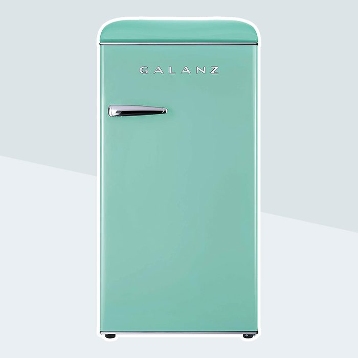 Galanz GLR33MGNR10 Retro Compact Refrigerator, Single Door Fridge, Adjustable Mechanical Thermostat with Chiller, Green, 3.3 Cu Ft