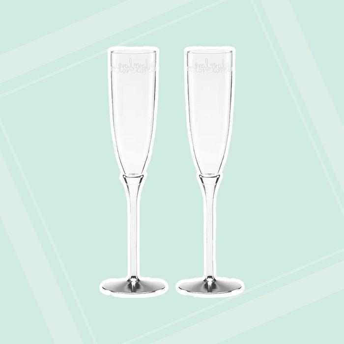 bridal shower gifts Kate Spade New York Key Court Toasting Flutes Set Of 2