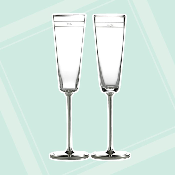 engagement party gifts Kate Spade New York Set Of 2 Darling Point Toasting Flutes