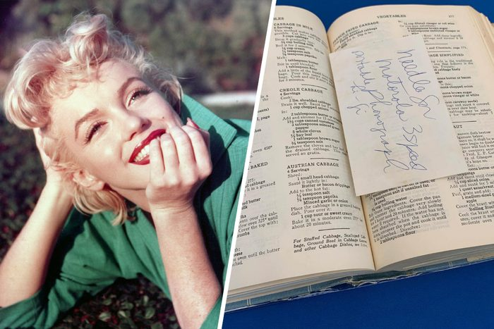 Marilyn Monroe Cookbook collection for auction