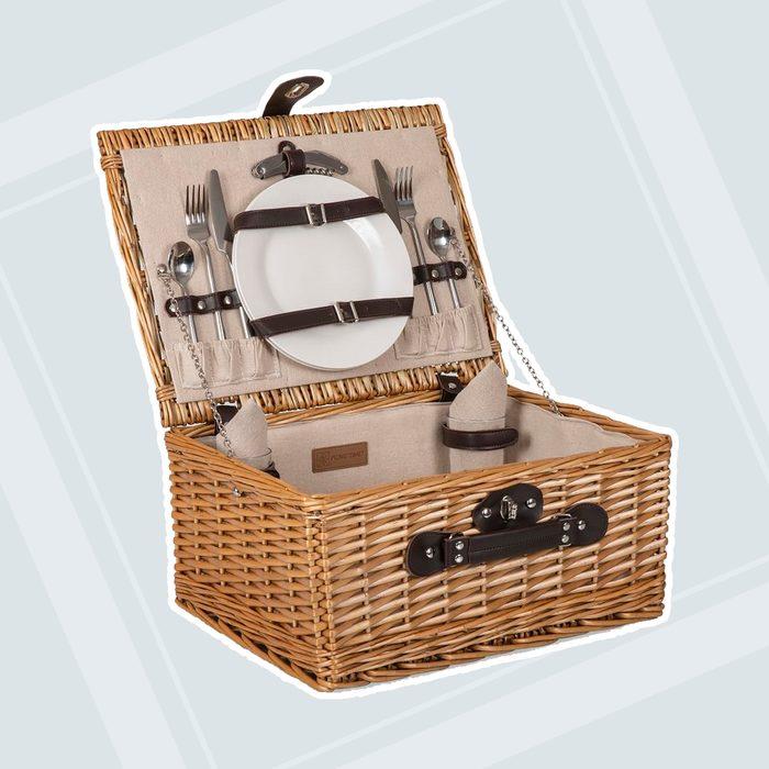 bridal shower gifts Pb Classic Woven Picnic Basket