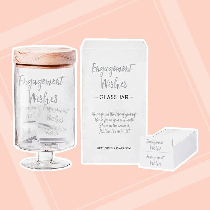 engagement party gifts Personalized Engagement Wishes Jar