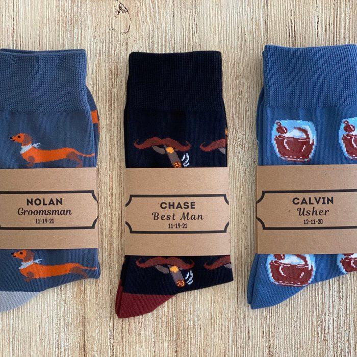 groomsmen gifts Personalized Wacky Socks