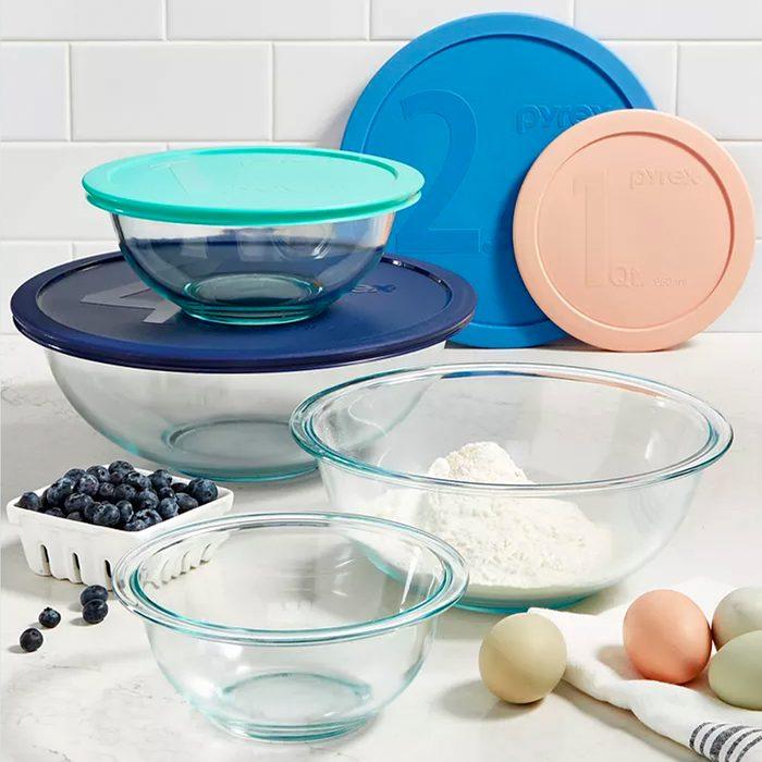 kitchen wedding gifts Pyrex 8 Pc Mixing Bowl Set