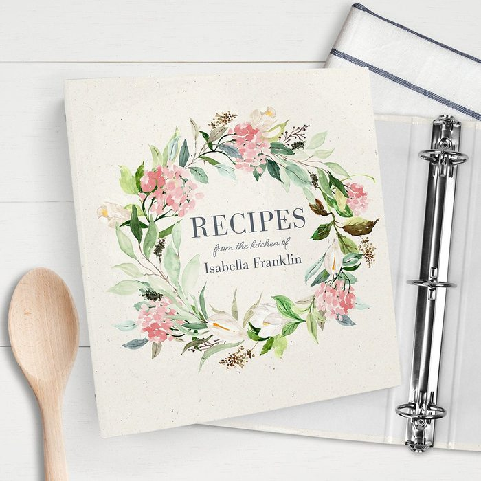 bridal shower gifts Recipe Binder Custom Valentines Day Gift