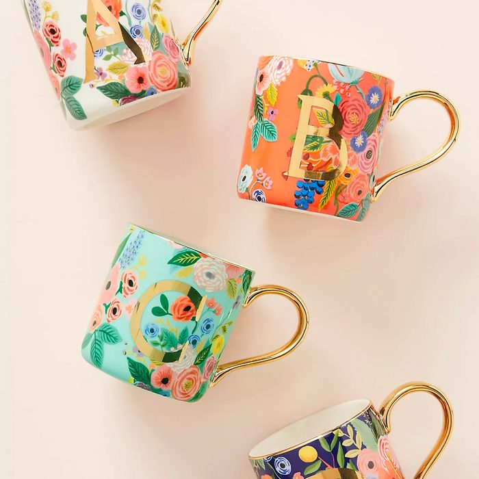 bridesmaid gifts Rifle Paper Co For Anthropologie Garden Party Monogram Mug
