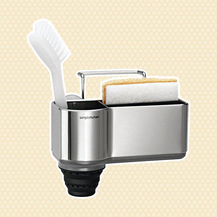 amazon kitchen storage Simplehuman Caddy Brushed Stainless Steel
