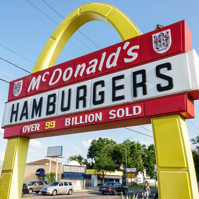 Florida, Winter Haven, McDonald's Hamburgers vintage sign. (Photo by: Jeffrey Greenberg/Education Images/Universal Images Group via Getty Images)