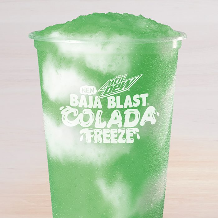 Taco Bell Baja Blast Colada Freeze