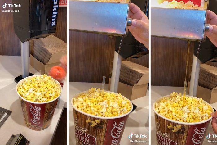 Tiktok Butter Popcorn Hack
