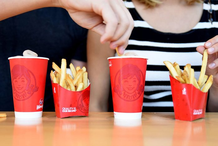 Wendys Frosty and Fries