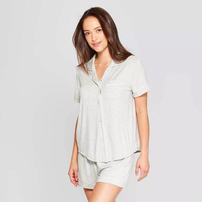 bridesmaid gifts Women S Beautifully Soft Short Sleeve Notch Collar Top And Shorts Pajama Set Stars Above