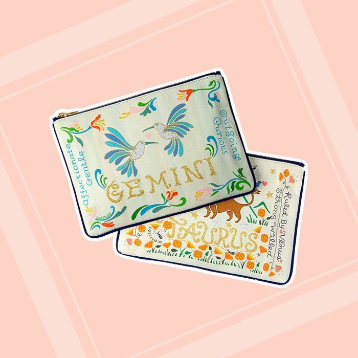 bridesmaid gifts Woven Astrology Zip Pouch