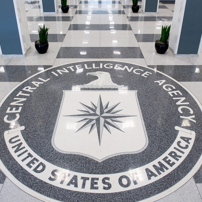 The Central Intelligence Agency (CIA) seal is displayed in the lobby of CIA Headquarters in Langley, Virginia, on August 14, 2008. AFP PHOTO/SAUL LOEB (Photo by SAUL LOEB / AFP) (Photo by SAUL LOEB/AFP via Getty Images)