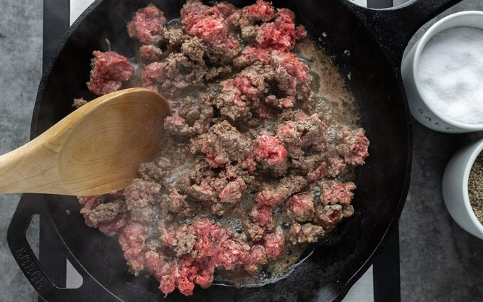 Break up and move beef around How To Brown Ground Beef.taste Of Home.nancy Mock 5