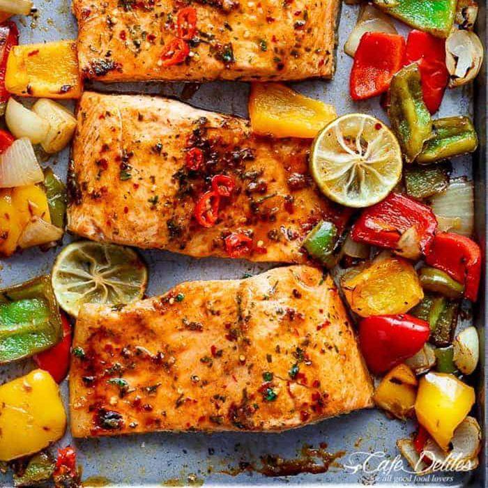 eid recipes sheet pan chili lime salmon