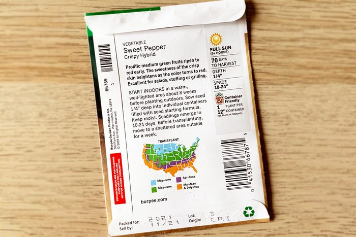 Back Of Seed Packet