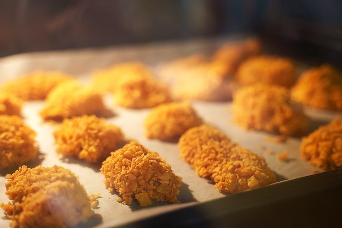 Chicken Nuggets Are Baked In The Oven