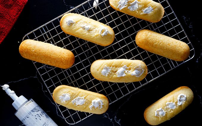 Fill with cream Homemade Twinkies recipe