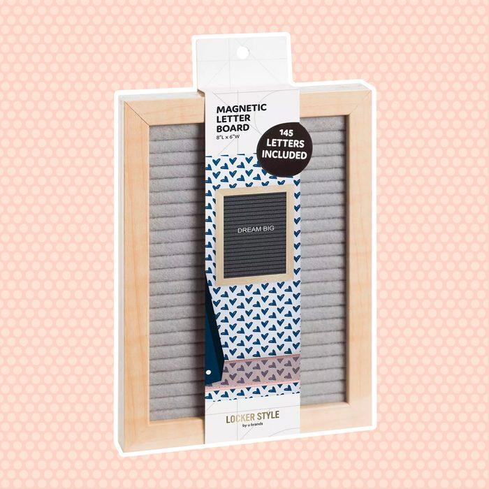back to school gifts for students Locker Wood Letter Board Gray U Brands