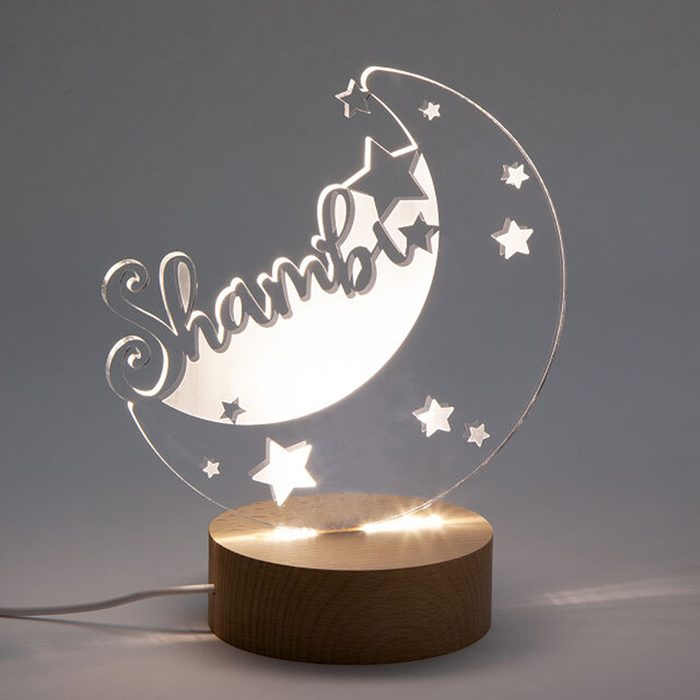 back to school gifts for kids Personalized Moon Stars Nightlight