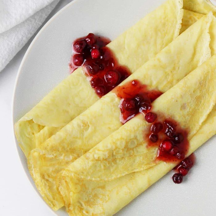 SWEDISH PANCAKES WITH LINGONBERRIES