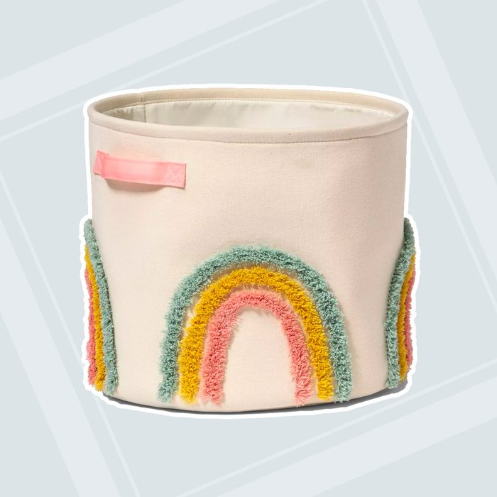 teacher gifts Tufted Canvas Storage Bin Cloud Island 8482 Pink L