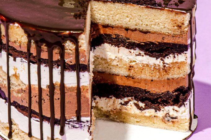 Gluten Free Black & White Layer Cake