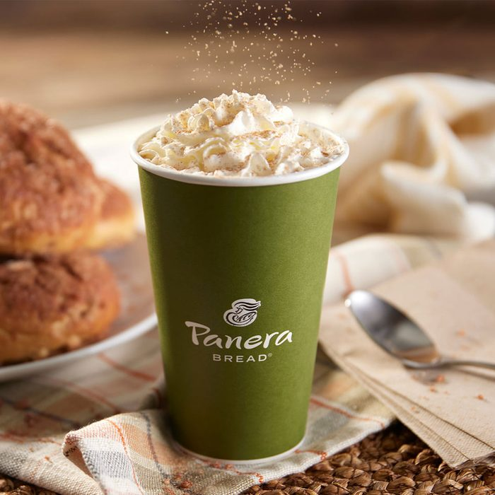 Panera Bread Cinnamon Crunch Latte