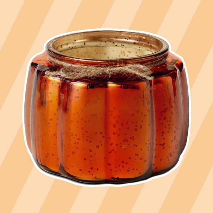 Glass Pumpkin Candle