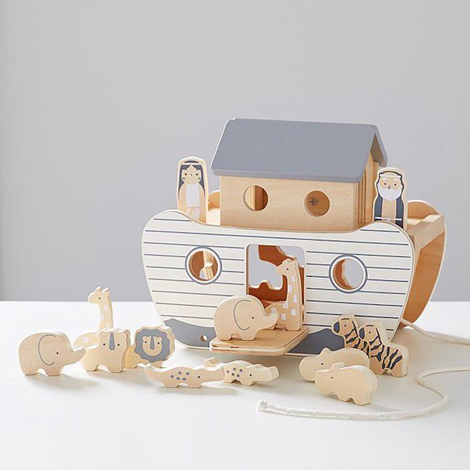 Noahs Ark Wooden Toy Set