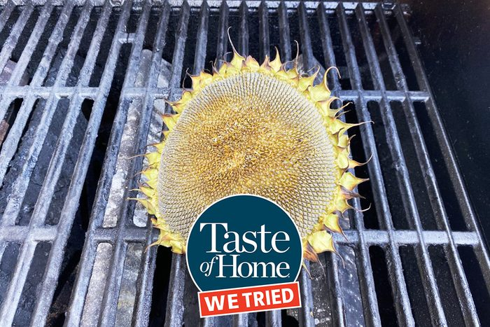 We Tried Treatment on Grilled Sunflower Head