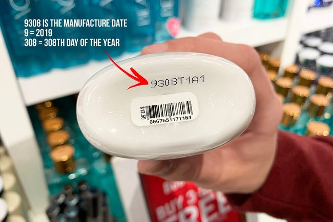 bottom of bath and body works bottle with expiration date