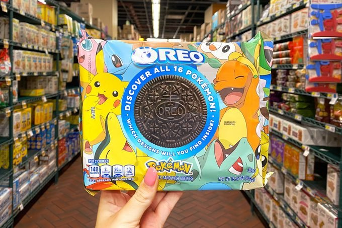 pokemon oreo pack in grocery store aisle