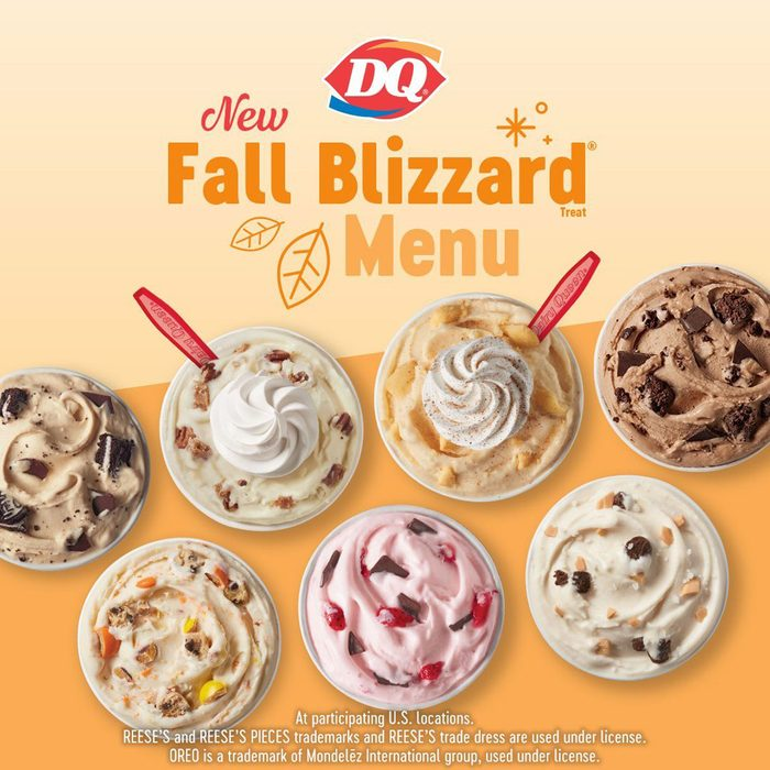 Dairy Queen Fall Blizzards Lineup
