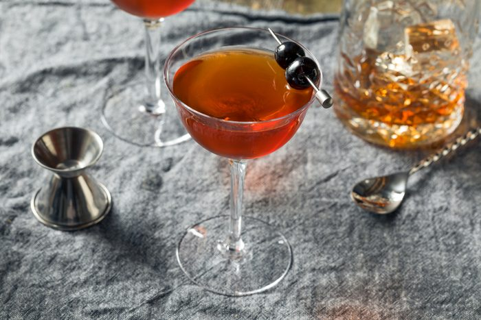 Homemade Rob Roy Cocktail with Scotch and Vermouth