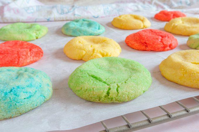 Jello Cookies On Cooling Rack
