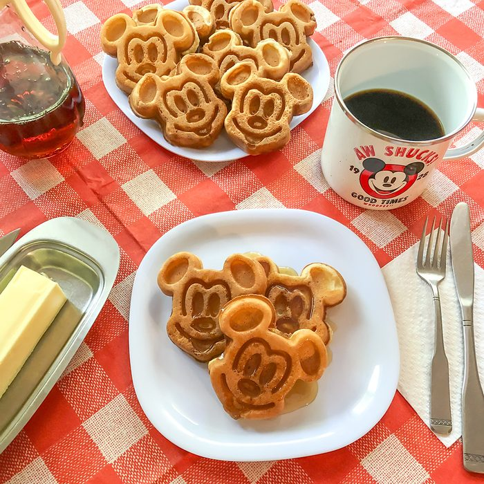Mickey Waffles; Square
