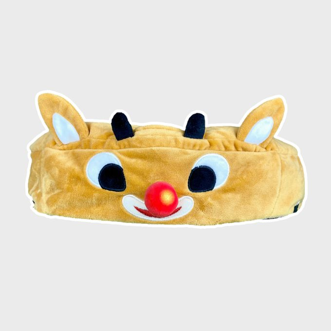 Rudolph Light Up Roomba Cover 2