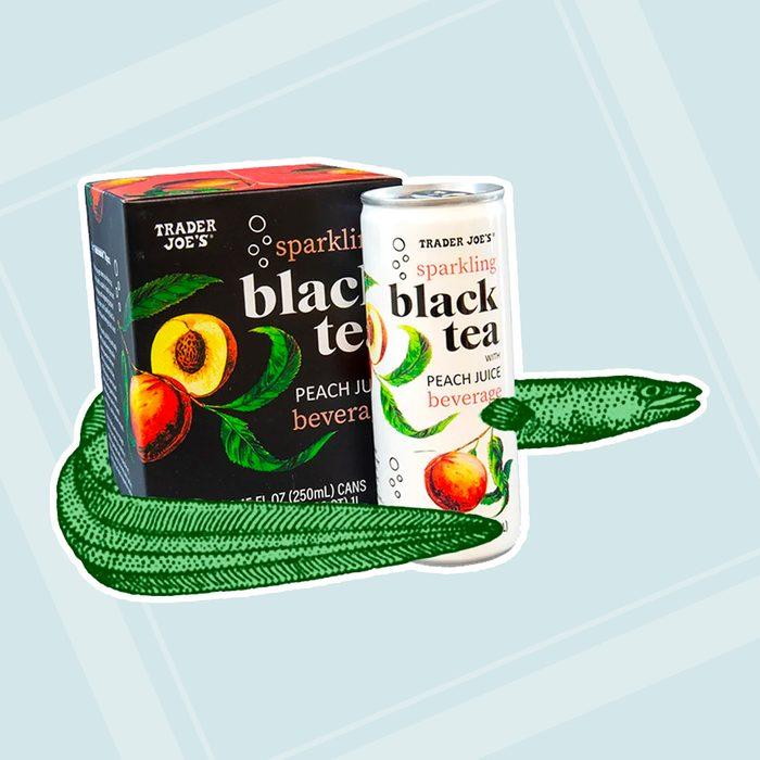 Sparkling Black Tea With Peach Juice Beverage