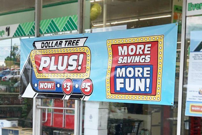 Dollar Tree Prices on Dollar Tree Plus Sign