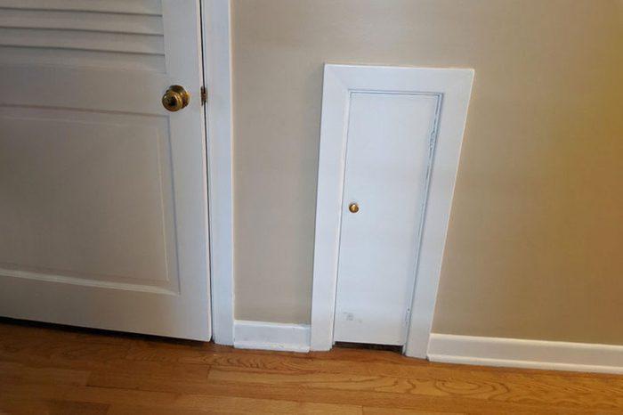 Little Door In Old House